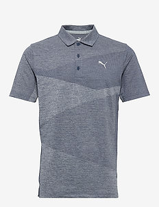 Alterknit Jacquard Polo - koszulki polo - dark denim heather