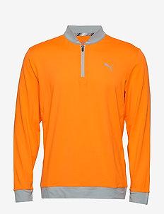 Stealth 1/4 Zip - podstawowe bluzy - vibrant orange