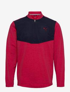 Cloudspun Stlth  Zip - långärmade tröjor - persian red heather-navy blazer