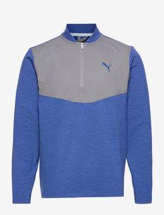 Cloudspun Stlth  Zip - longsleeved tops - mazarine blue heather-quiet shade
