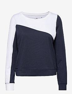 W Colorblock Crew - sweatshirts - navy blazer-bright white