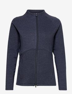 W Cloudspun Full Zip - kurtki golfowe - navy blazer heather