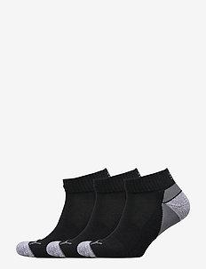 Pounce Quarter Cut 3 Pair Pack - ankle socks - black