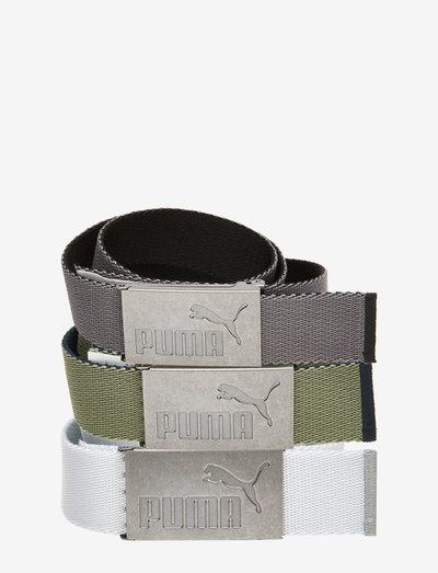 6 Pack Web Belt - sportriemen - puma black-bright white