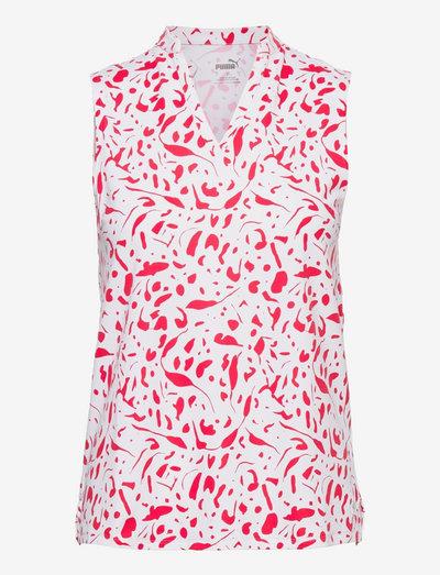 W Cloudspun Chelsea SL Polo - blouses zonder mouwen - teaberry
