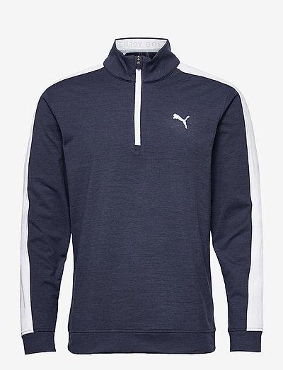 Cloudspun T7 1/4 Zip - golfjackor - navy blazer heather-bright white