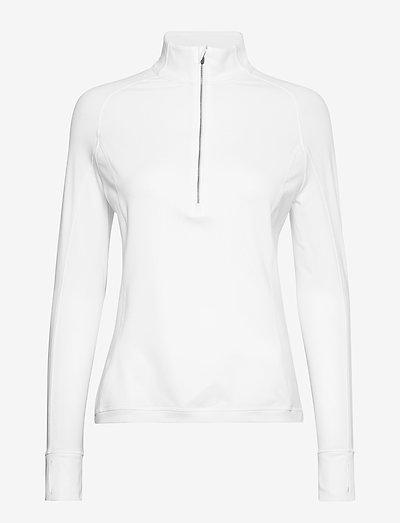 W Rotation 1/4 Zip - topjes met lange mouwen - bright white