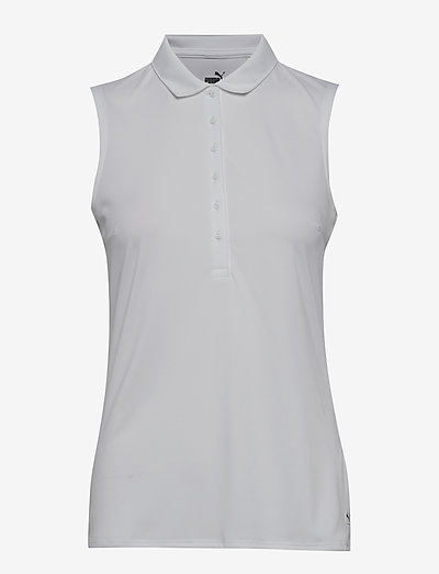 Rotation Sleeveless Polo - polo's - bright white
