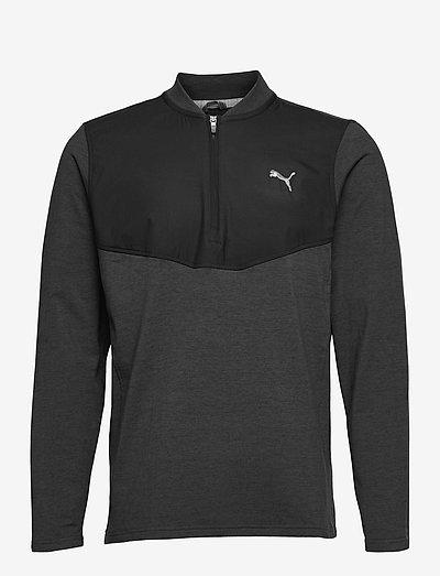 Cloudspun Stlth  Zip - långärmade tröjor - puma black heather