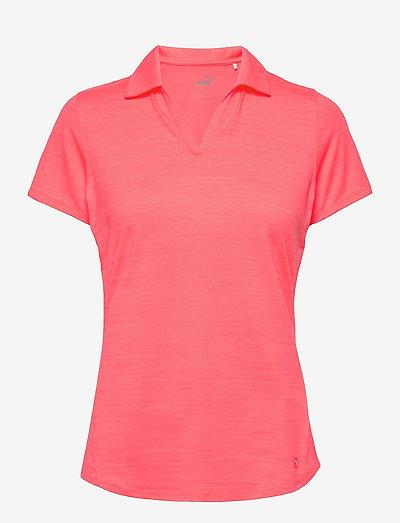 Cloudspun Free Polo - polo's - ignite pink heather