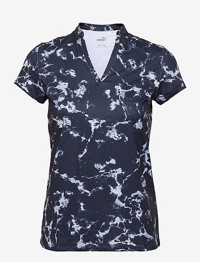 W Cloudspun Marble Polo - polo's - navy blazer
