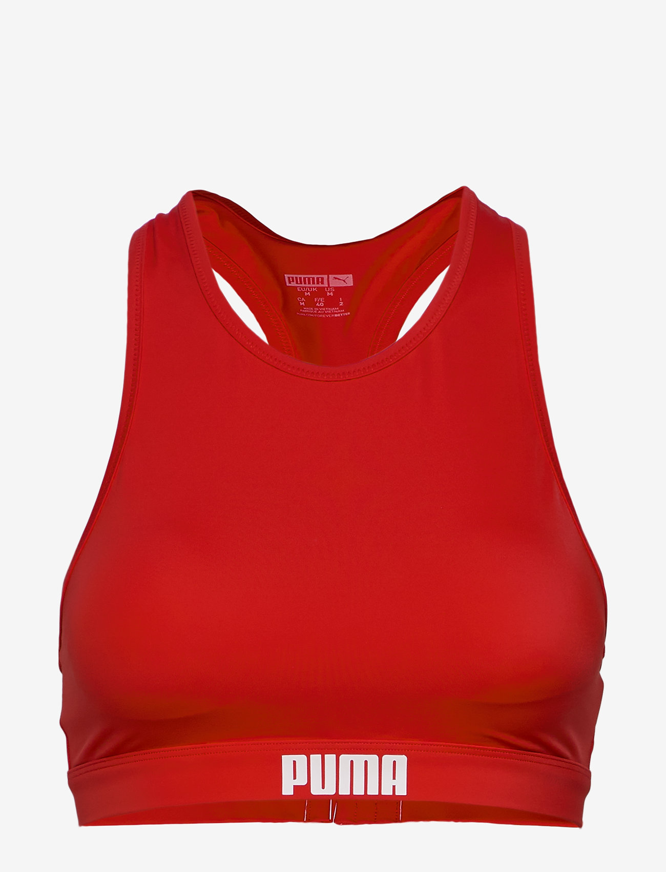 Puma Swim - PUMA SWIM WOMEN RACERBACK SWIM TOP - bikinitopper - red - 0