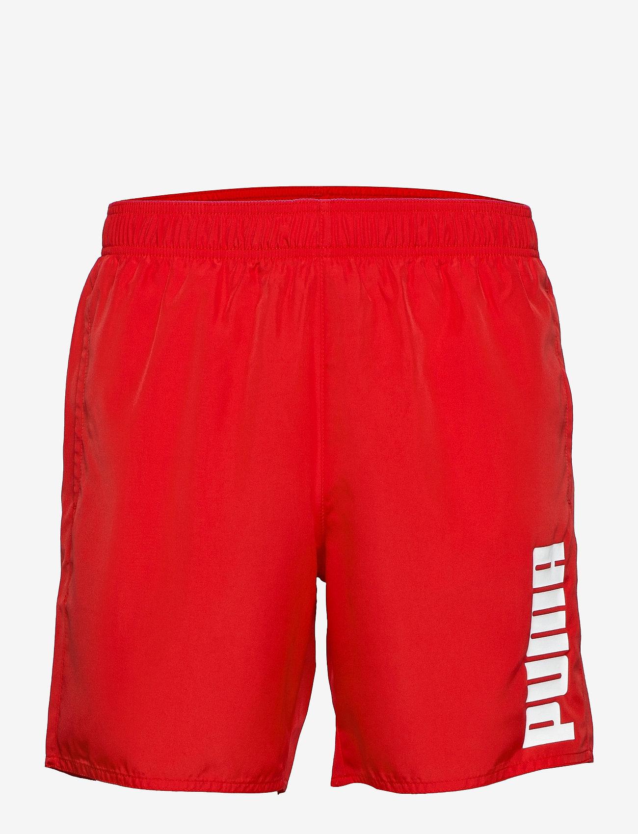 Puma Swim - PUMA SWIM MEN MID SHORTS 1P - badbyxor - red - 0