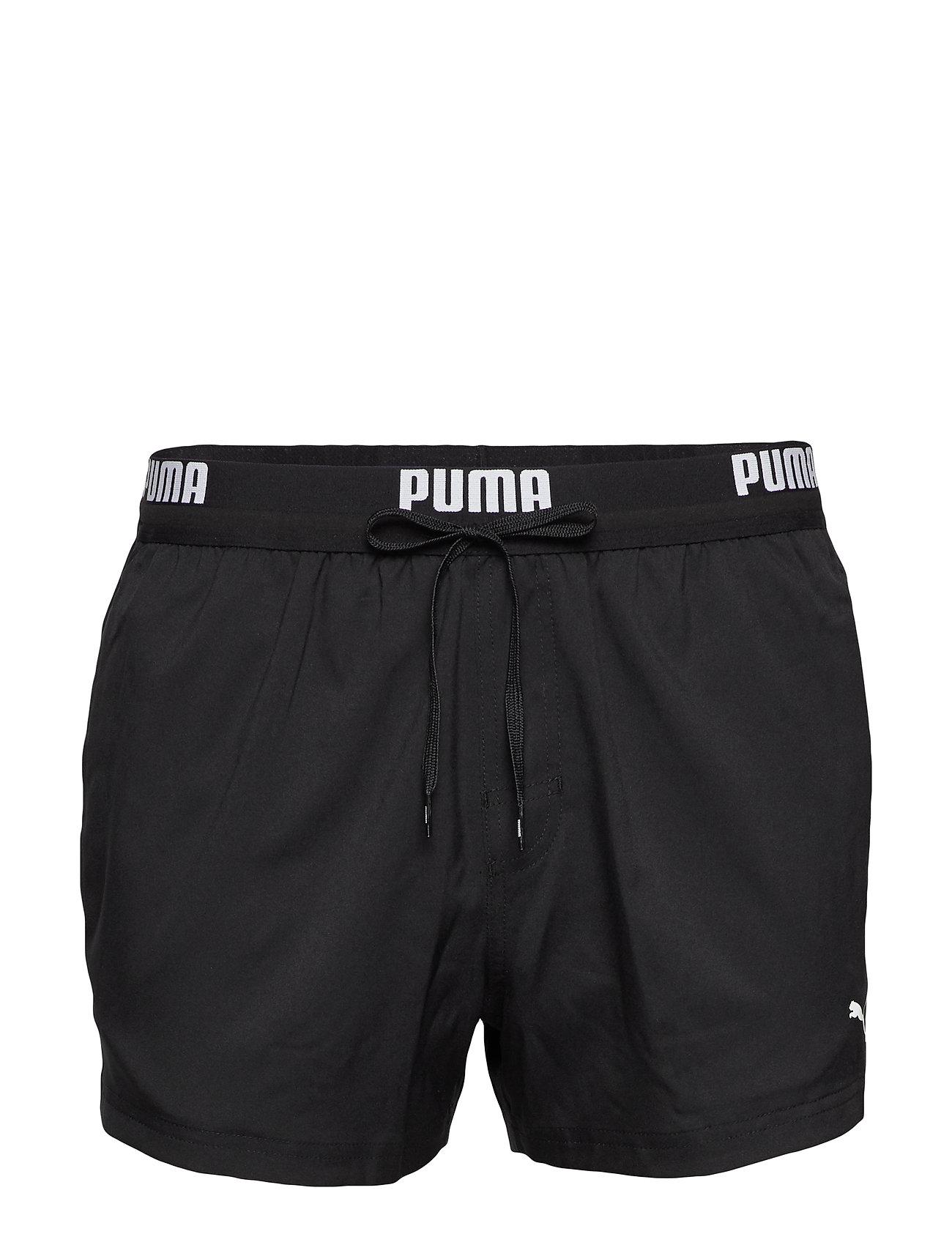 Image of Puma Swim Men Logo Short Length Swi Badeshorts Sort Puma Swim (3362440489)