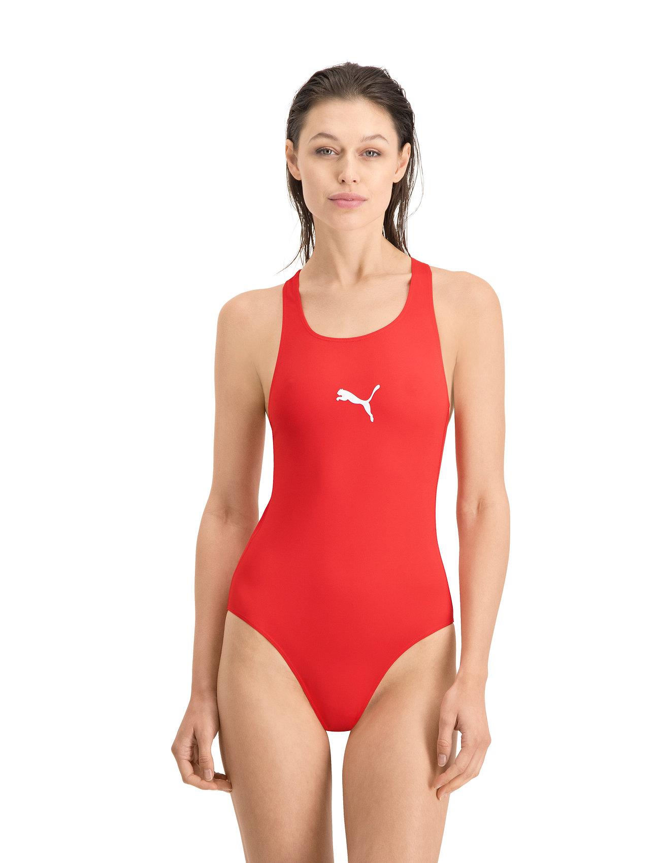 Puma Swim - PUMA SWIM WOMEN RACERBACK SWIMSUIT - stroje kąpielowe - red - 0