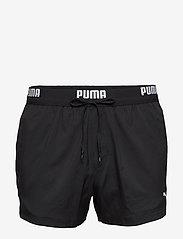 Puma Swim - PUMA SWIM MEN LOGO SHORT LENGTH SWI - badbyxor - black - 1