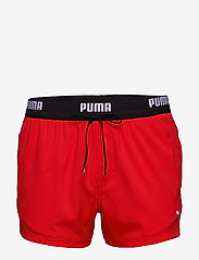 PUMA SWIM MEN LOGO SHORT LENGTH SWI - RED