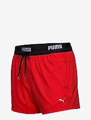 Puma Swim - PUMA SWIM MEN LOGO SHORT LENGTH SWI - shorts - red - 2