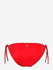 Puma Swim - PUMA SWIM WOMEN SIDE TIE BIKINI BOT - bikiniunderdeler - red - 1
