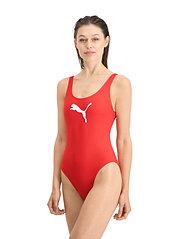 Puma Swim - PUMA SWIM WOMEN SWIMSUIT 1P - stroje kąpielowe - red - 4