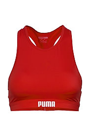 PUMA SWIM WOMEN RACERBACK SWIM TOP - RED