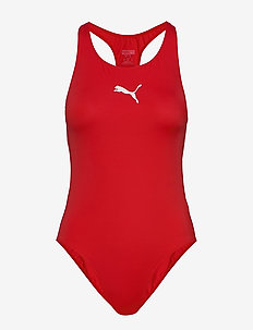PUMA SWIM WOMEN RACERBACK SWIMSUIT - sportsbadetøy - red