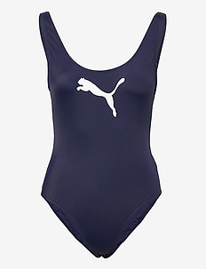 PUMA SWIM WOMEN SWIMSUIT 1P - sport zwemkleding - navy