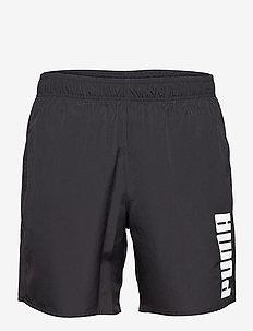 PUMA SWIM MEN MID SHORTS 1P - szorty kąpielowe - black