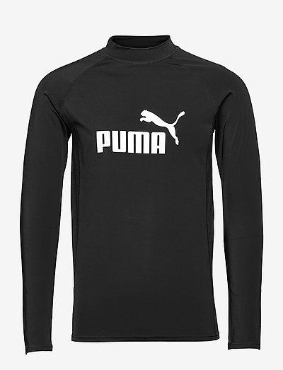 PUMA SWIM MEN LONG SLEEVE RASH GUAR - långärmade tröjor - black