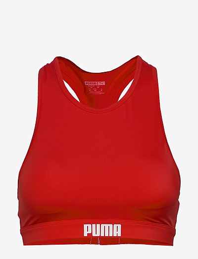 PUMA SWIM WOMEN RACERBACK SWIM TOP - bikinitoppar - red