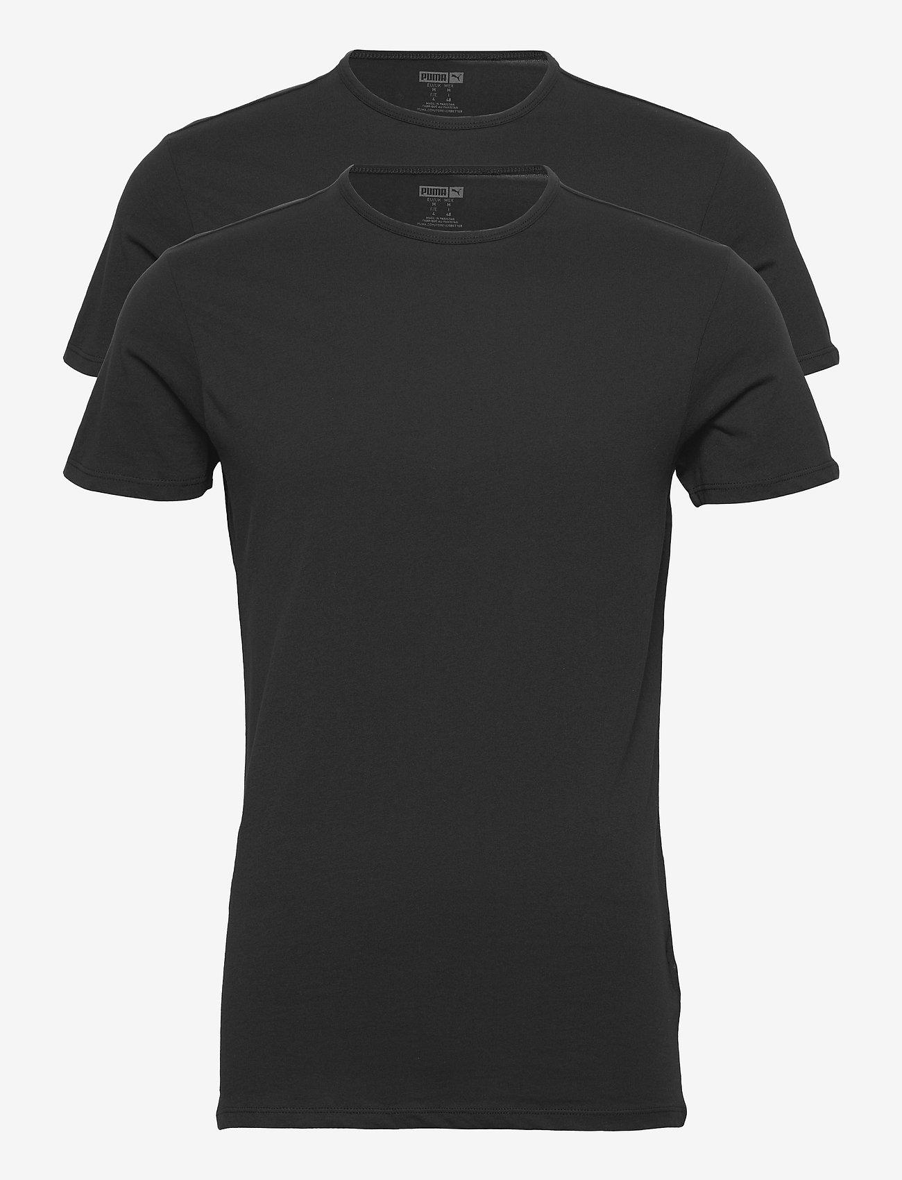 PUMA - PUMA BASIC 2P CREW TEE - t-shirts - black - 1