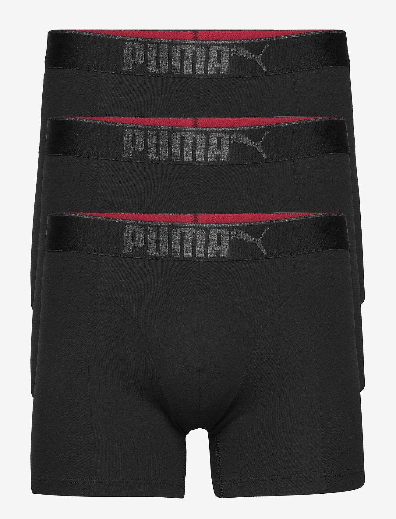 PUMA - PUMA PREMIUM SUEDED COTTON BOXER 3P - boxer briefs - black - 0
