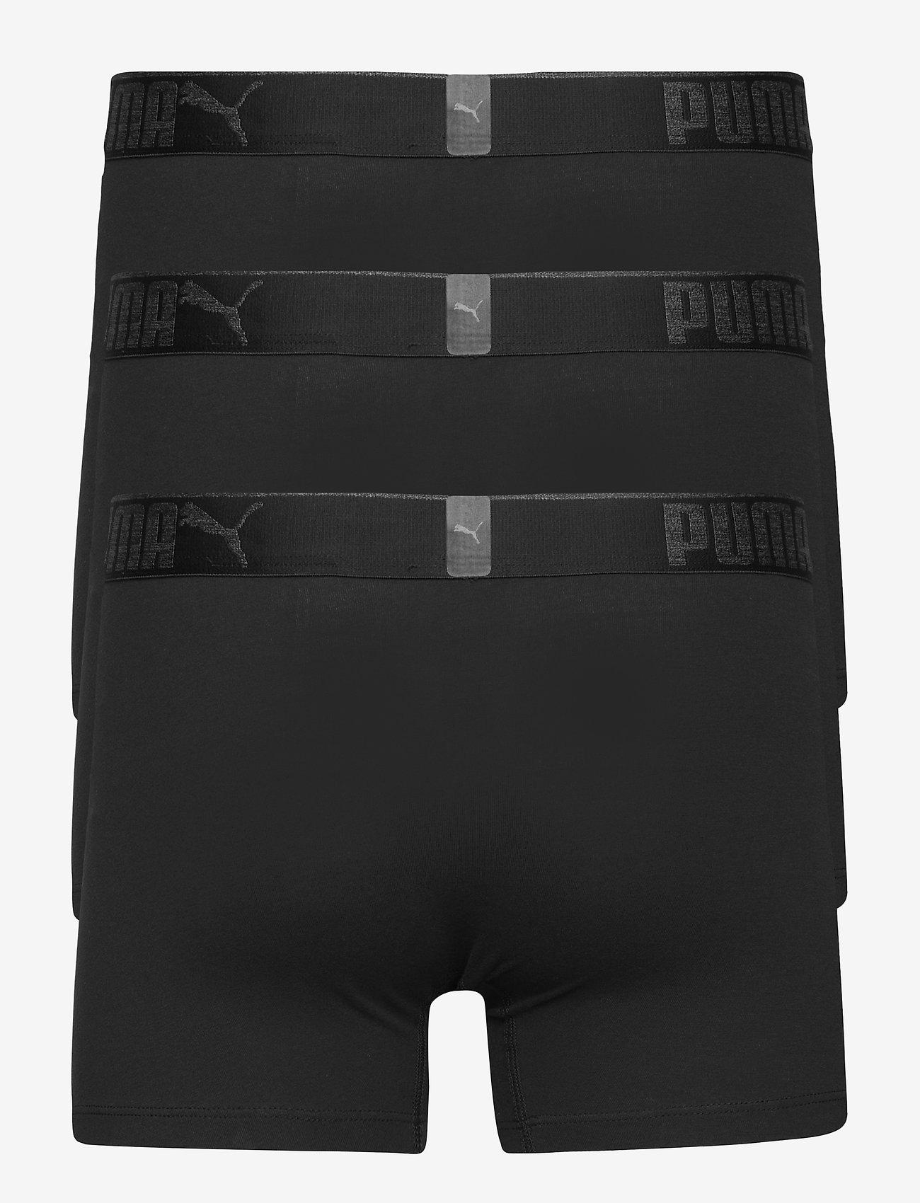 PUMA - PUMA PREMIUM SUEDED COTTON BOXER 3P - boxer briefs - black - 1