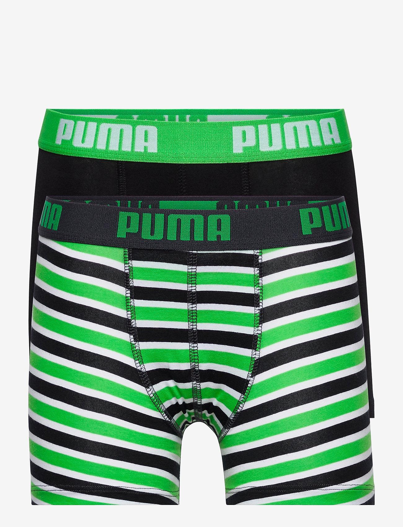 PUMA - PUMA BOYS BASIC BOXER PRINTED STRIP - nederdelar - classic green - 0