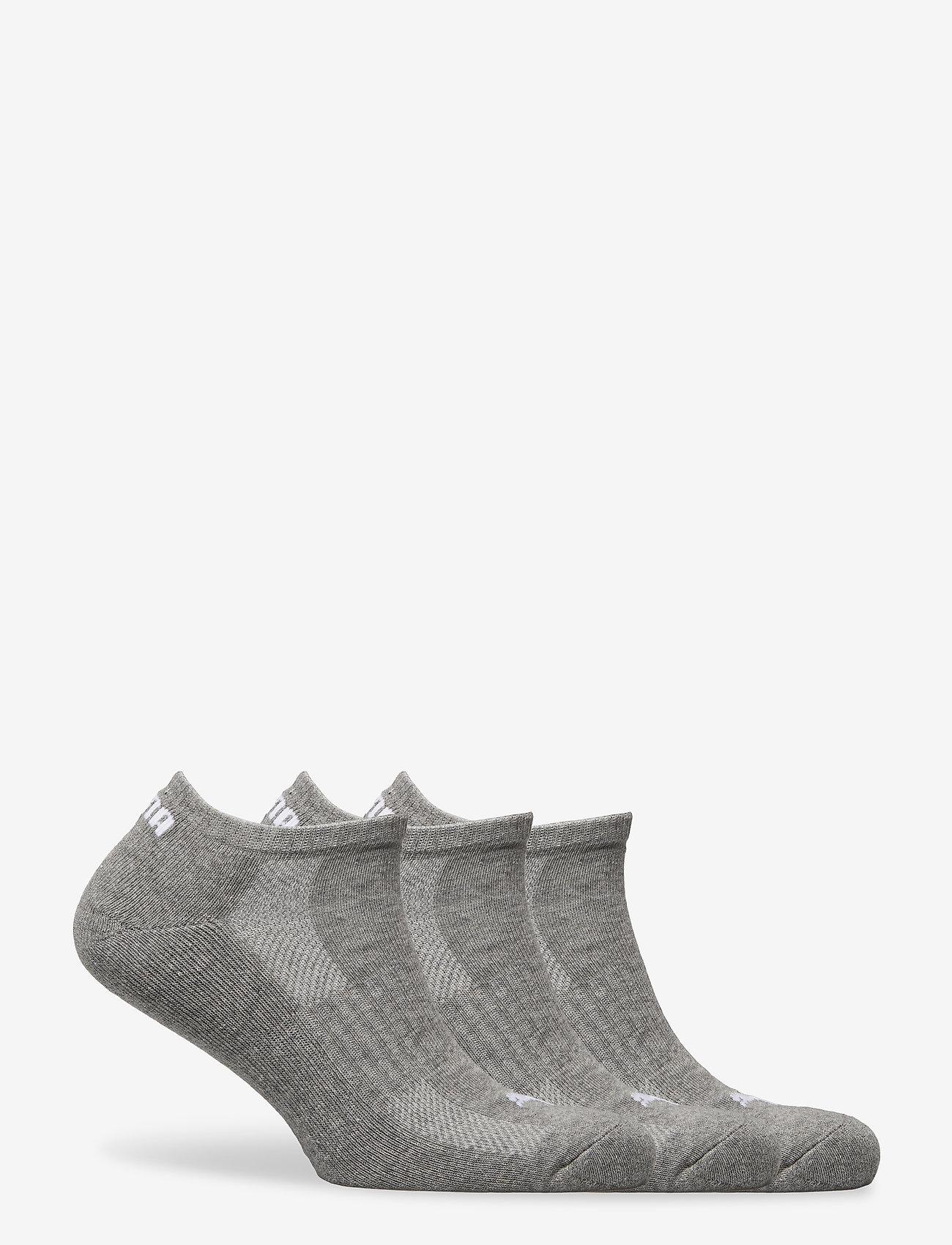 PUMA - PUMA CUSHIONED SNEAKER 3P UNISEX - ankelstrumpor - middle grey melange - 1