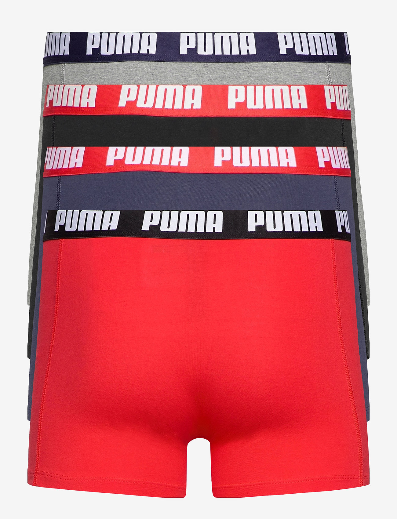 PUMA - PUMA BASIC BOXER 4P ECOM - boxerkalsonger - red combo - 1