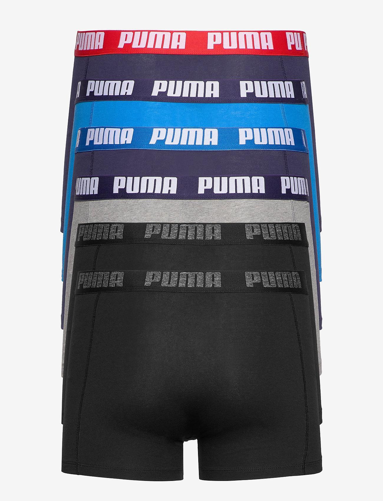 PUMA - PUMA BASIC BOXER 6P ECOM - boxerkalsonger - blue / black - 1