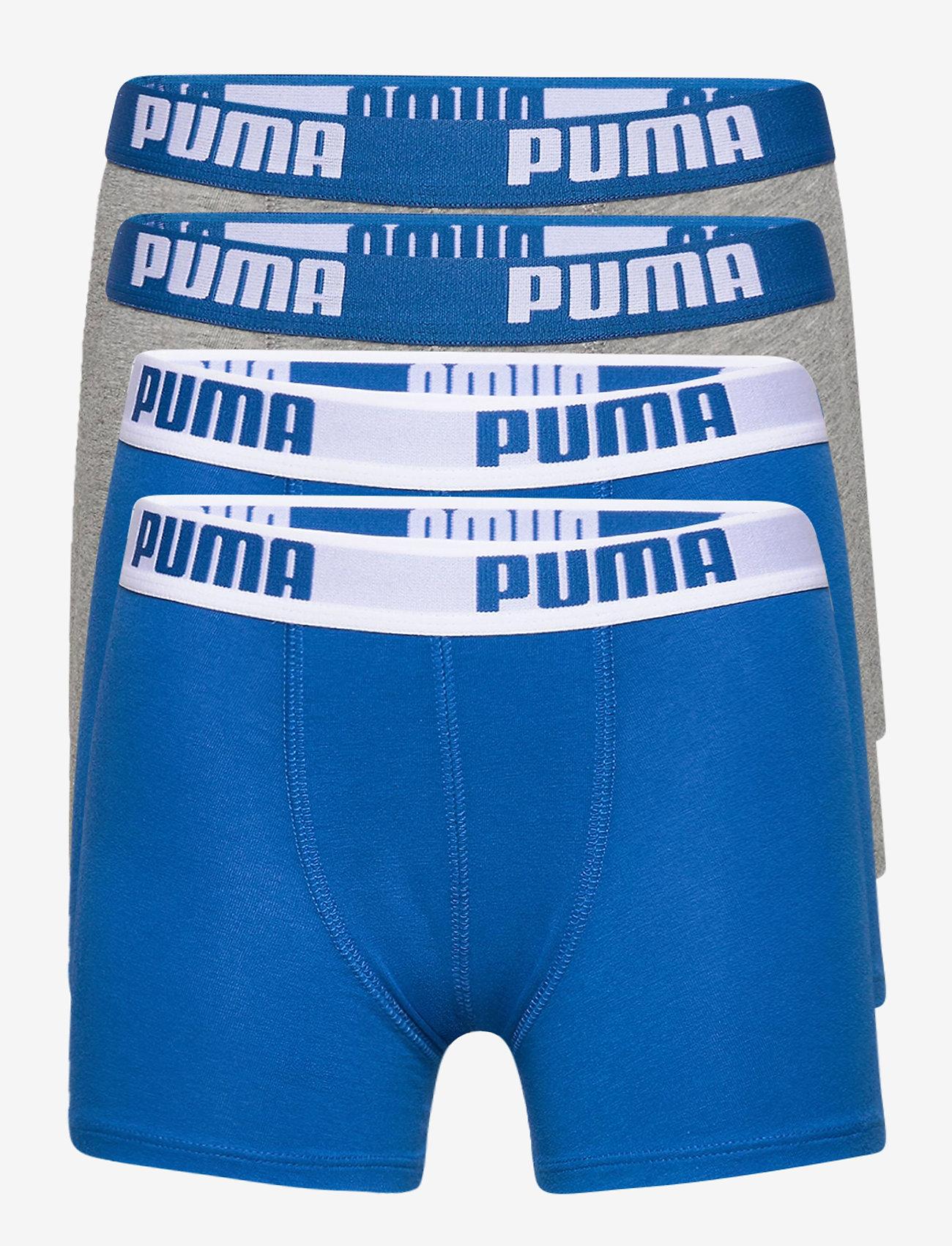PUMA - PUMA BOYS BASIC BOXER 4P ECOM - blue / grey - 0