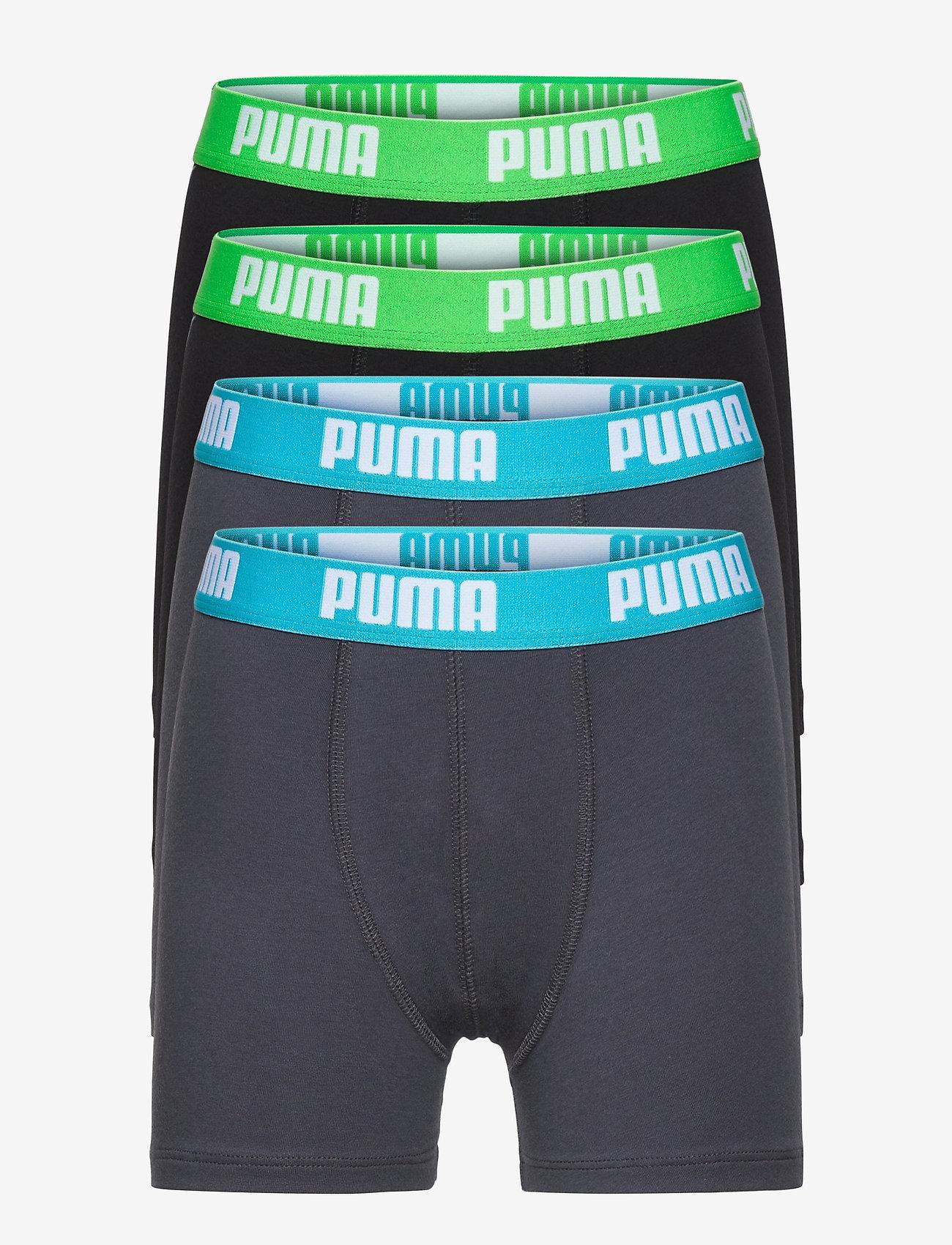 PUMA - PUMA BOYS BASIC BOXER 4P ECOM - india ink / turquoise - 0