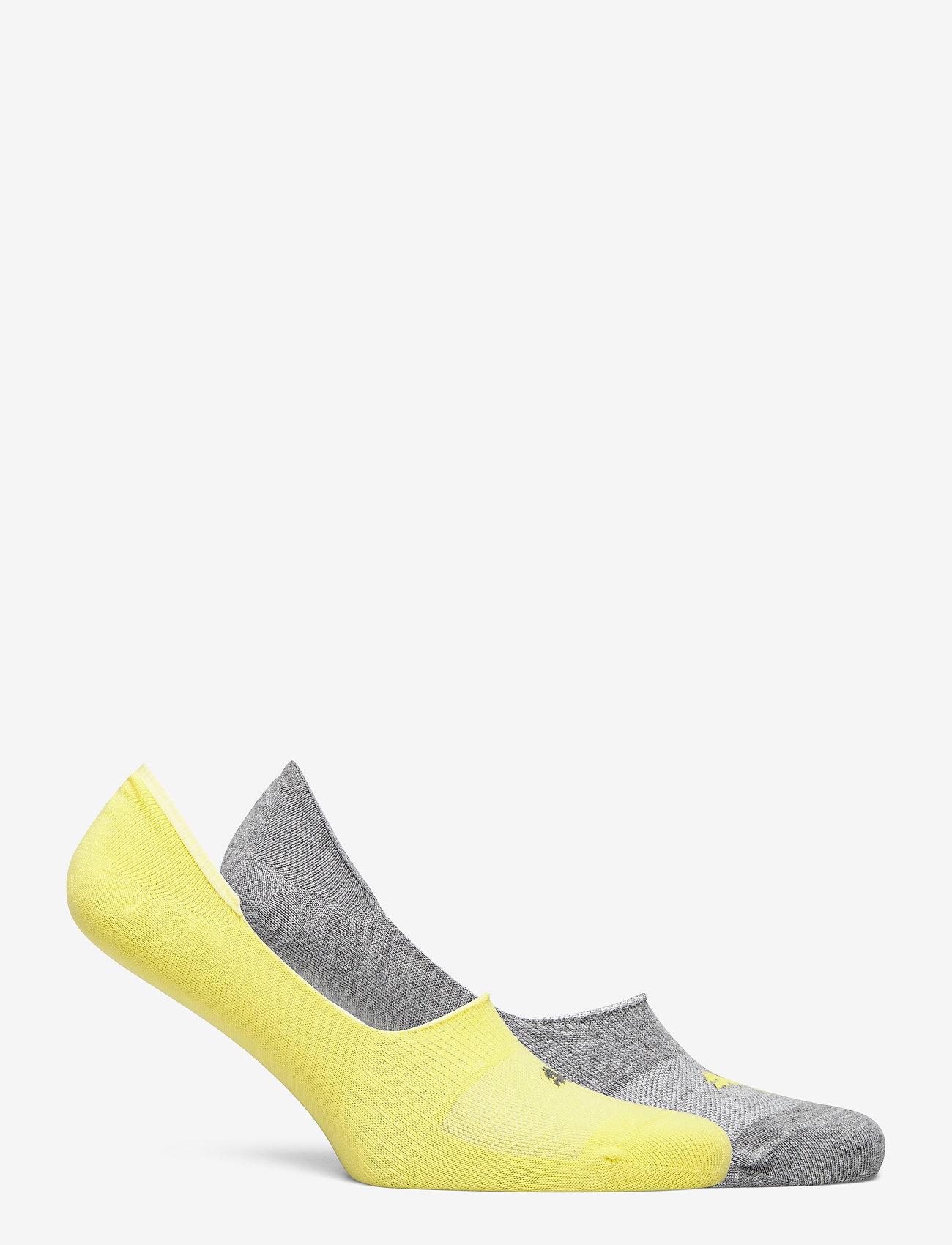 PUMA - PUMA FOOTIE 2P UNISEX - kousen - yellow - 1