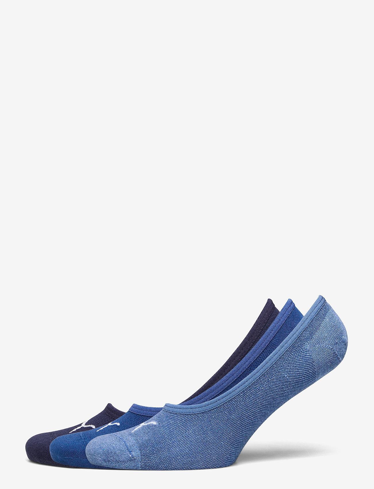 PUMA - PUMA FOOTIE 3P UNISEX - kousen - blue combo - 0