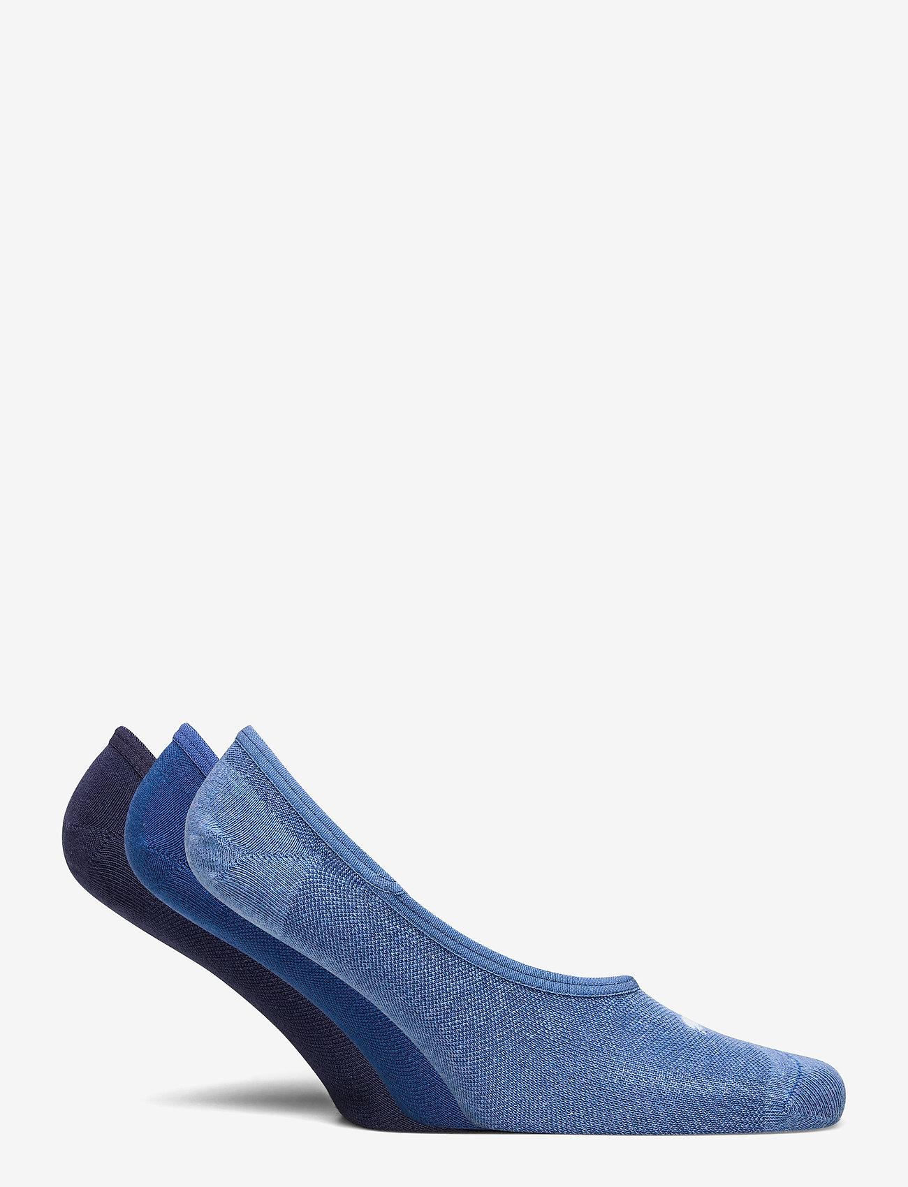 PUMA - PUMA FOOTIE 3P UNISEX - kousen - blue combo - 1