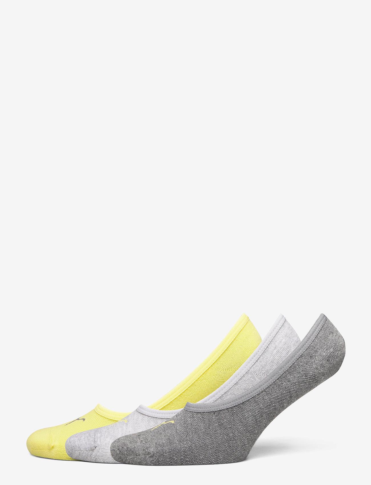 PUMA - PUMA FOOTIE 3P UNISEX - kousen - yellow - 0
