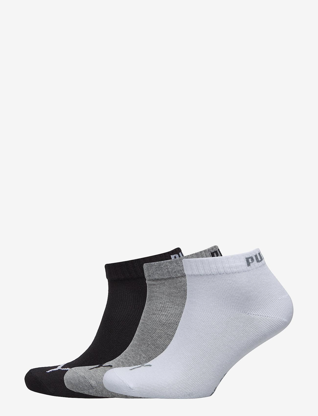 PUMA - PUMA UNISEX QUARTER PLAIN 3P - kousen - grey/white/black - 0