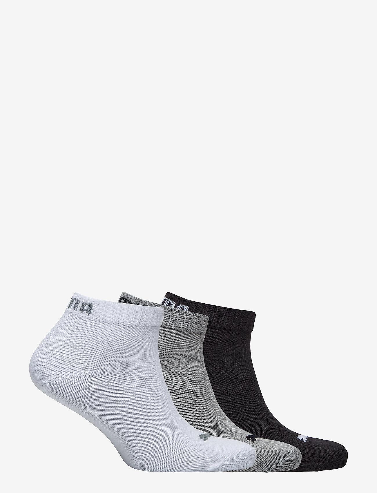 PUMA - PUMA UNISEX QUARTER PLAIN 3P - kousen - grey/white/black - 1