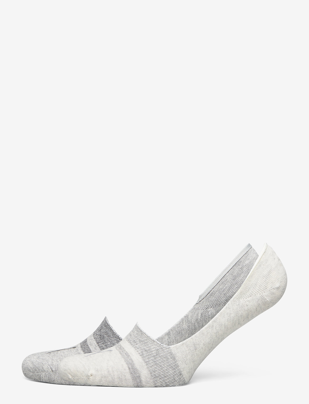 PUMA - PUMA HERITAGE FOOTIE 2P UNISEX - kousen - light grey melange - 0