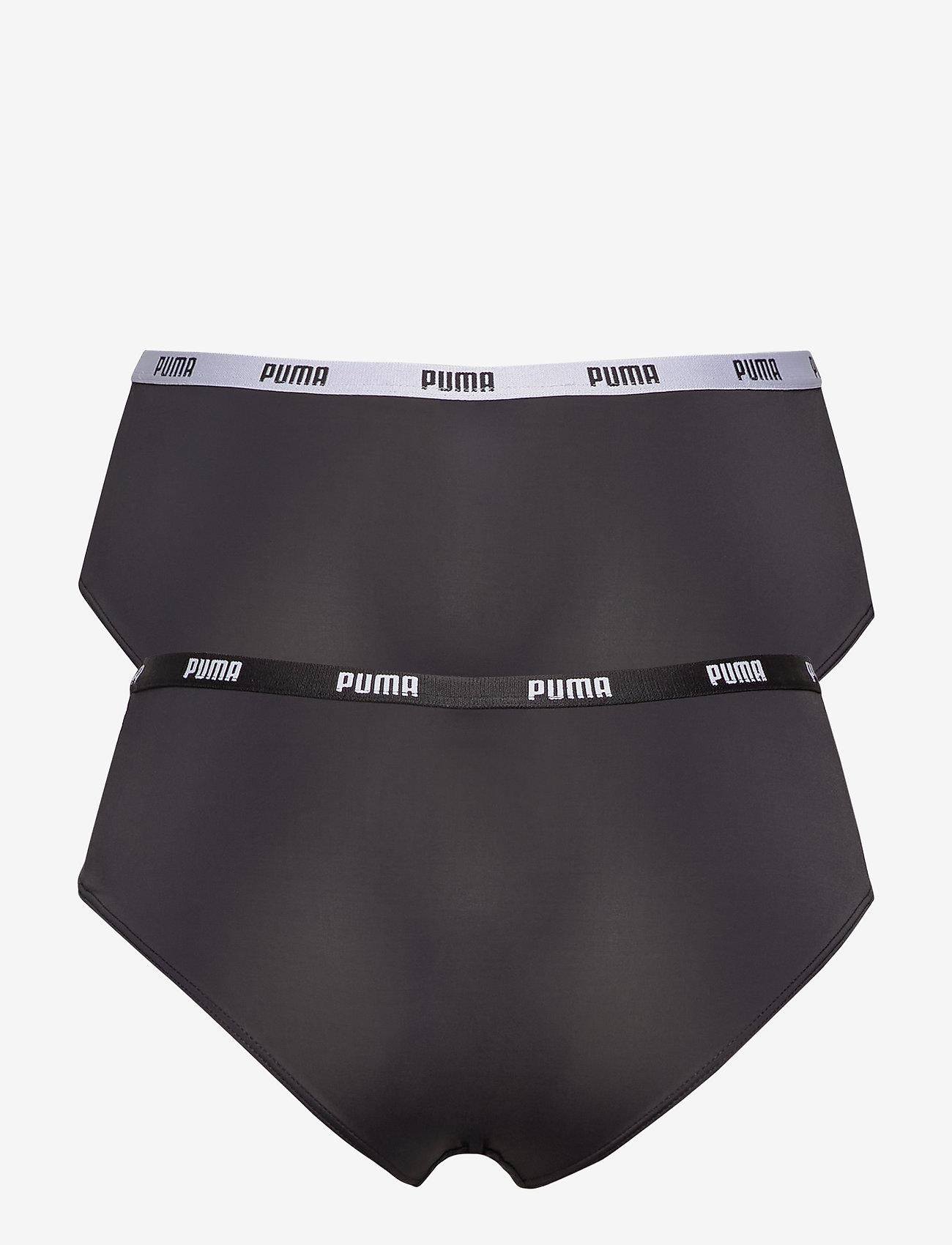 PUMA - PUMA  MICROFIBER HIPSTER 2P HANG - bokserki & szorty - black