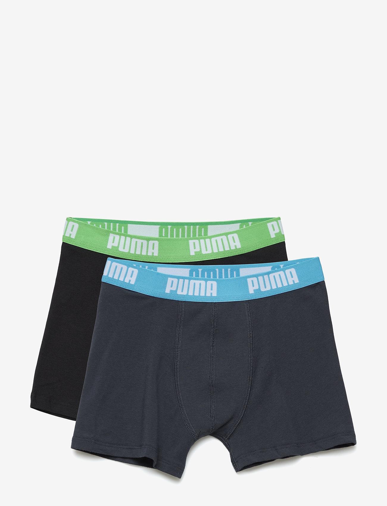 PUMA - PUMA BASIC BOXER 2P - doły - india ink / turquoise - 0