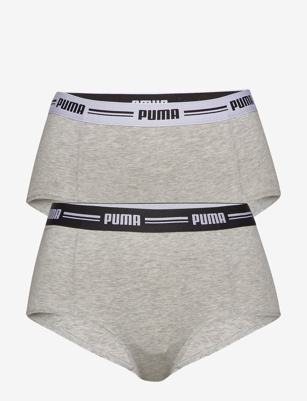 PUMA - PUMA ICONIC MINI SHORT 2P HANG - broekjes - grey / grey - 0