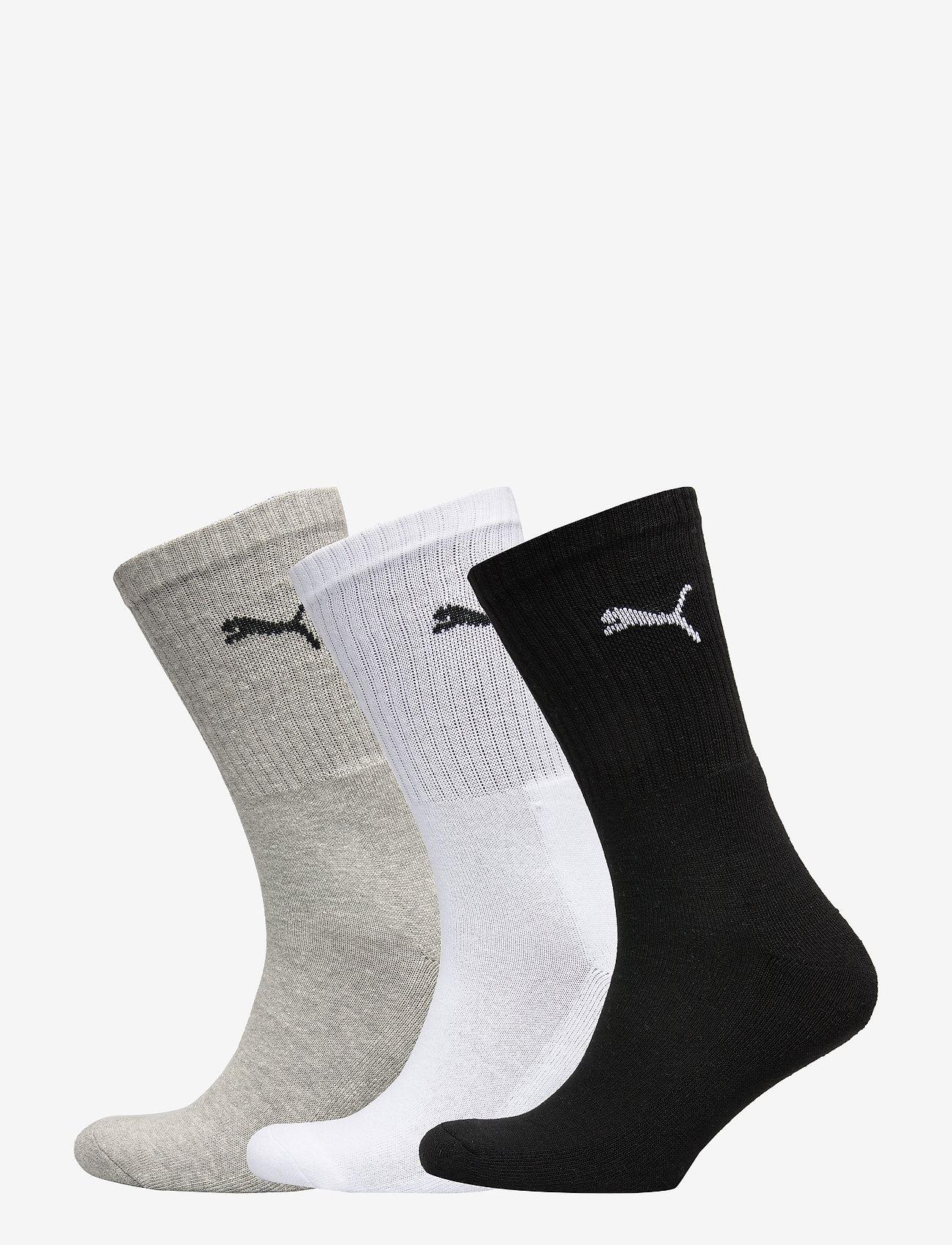 PUMA - PUMA CREW SOCK 3P - vanliga strumpor - white / grey / black - 0